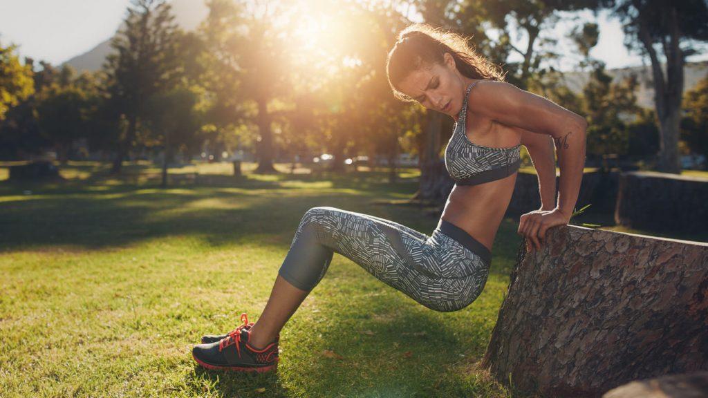 Intenset edzés a szabadban női edzés
