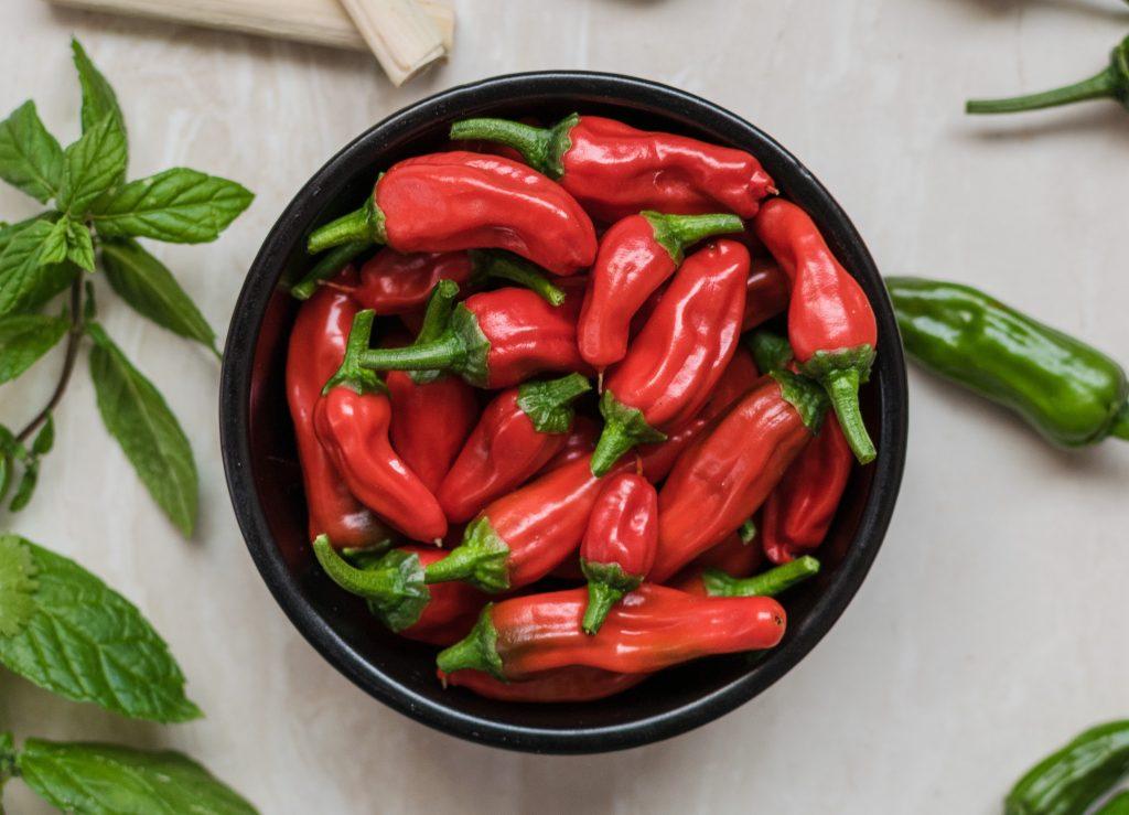 intenset diéta chili paprika